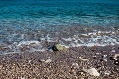 镇静地中海 晴朗日的夏天 库存图片