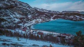 镇静天在挪威 库存图片