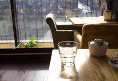 镇静早晨咖啡馆 库存图片