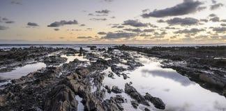 镇静海滨, Rocha,乌拉圭 库存图片