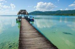 镇静湖贝登在危地马拉 免版税库存图片