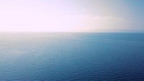 镇静蓝色海的看法在黎明 影视素材