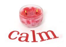 镇静蜡烛粉红色 库存图片