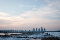 镇风景 免版税库存照片