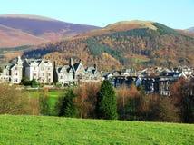 镇, Cumbria,英国的美丽的景色 库存图片