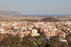 镇Mazarron 地区穆尔西亚,西班牙 免版税库存照片
