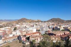 镇Mazarron 地区穆尔西亚,西班牙 免版税图库摄影