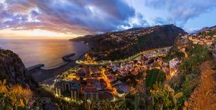 镇Ribeira Brava -马德拉岛葡萄牙 免版税库存照片