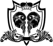 镜子公羊盾 免版税图库摄影