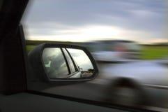 镜子后视图 免版税库存图片