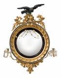 镜子圆的古董 免版税库存图片