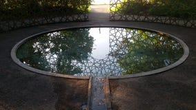 镜子池塘 库存图片