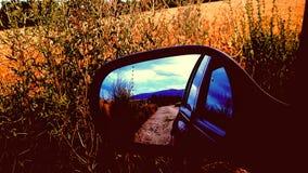 镜子汽车 库存照片