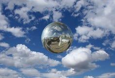 镜子球 库存图片
