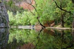 镜子的湖 图库摄影