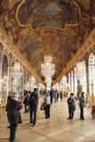 镜子的霍尔,凡尔赛大别墅,巴黎,法国 免版税库存图片