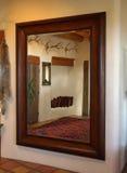 镜子空间 库存图片