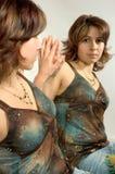 镜子纵向 免版税图库摄影