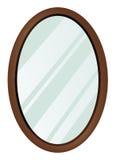 镜子长圆形 库存图片