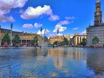 镜子水池城市公园 图库摄影