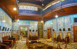 镜子Manial宫殿,开罗,埃及霍尔  库存照片