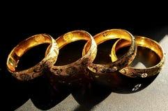 镯子中国传统婚礼 免版税库存照片