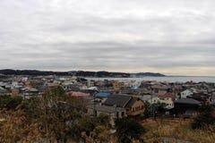 镰仓市监视视图,从Hase-dera寺庙 免版税库存图片