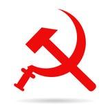 镰刀和锤子苏联标志徽章 库存图片