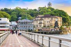 镰仓市,日本沿海岸区  免版税库存照片