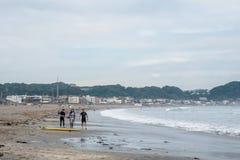 镰仓,日本海岸线  库存图片