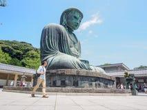 镰仓,日本的了不起的菩萨 免版税图库摄影