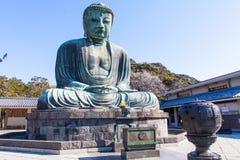 镰仓,日本- 2014年3月23日:镰仓的了不起的菩萨 免版税库存图片