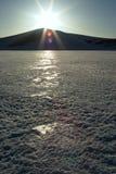镶有钻石的旭日形首饰的冬天 免版税图库摄影