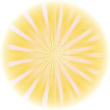 镶有钻石的旭日形首饰的抽象向量。 图库摄影