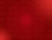 镶有钻石的旭日形首饰红色的螺旋 免版税库存照片