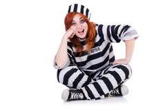 镶边制服的囚犯 库存照片