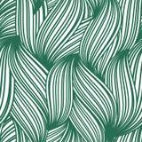 镶边叶子的绿色抽象无缝的样式 免版税库存照片