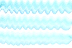 镶边波浪五颜六色的蓝色水彩 库存图片