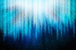 镶边的背景蓝色雪花星形 免版税库存图片