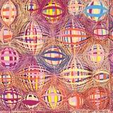 镶边的难看的东西和盘旋了五颜六色的无缝的样式 库存图片