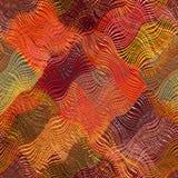 镶边的难看的东西,对角线,被子,波浪布料五颜六色的pa 库存照片