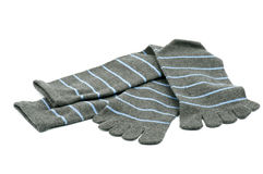 镶边脚趾袜子 免版税库存图片