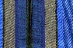 镶边蓝色织品 库存照片