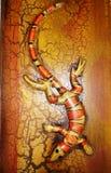 镶边鬣鳞蜥 库存图片
