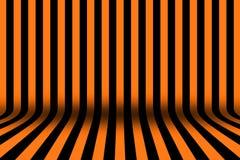 镶边黑和橙色设计的室万圣夜卡片背景的 库存图片