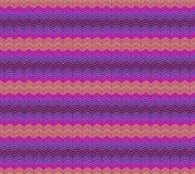 镶边,曲折前行无缝的样式 之字形线纹理 有条纹的几何背景 桔子,紫罗兰色 免版税图库摄影