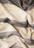 镶边围巾被编织的织品特写镜头 库存图片