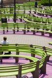 长凳五颜六色的nyc 免版税库存照片