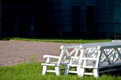 长凳倒空 图库摄影