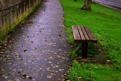 长凳克罗地亚公园ribnjak 库存图片